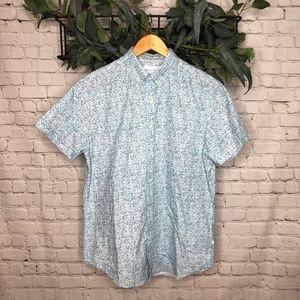 Denim and Flower Ricky Singh Blue Pattern Shirt